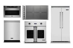 Viking 42in Refrigerator, 36in Induction Cooktop, Oven, Micr