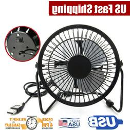 4inch Small Desk Table Fan Personal USB Air Circulator Mini