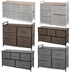 Fabric 5-Drawer Dresser and Storage Organizer Unit for Bedro