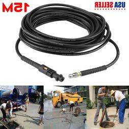 50Ft /15M Pressure Washer Sewer Drain Cleaning Hose Pipe Tub