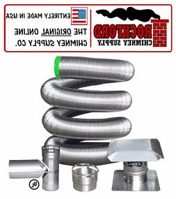 "6"" 316 Flexible Chimney Liner Tee Kit or Insert Kit with Opt"