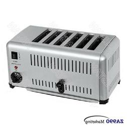 6 Slice Commercial Bun Sandwich Bread Toaster Oven Machine F