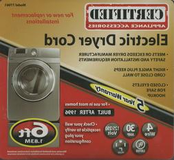 Certified Appliance 77061 6-Ft Electric Dryer Cord, 4 Wire,