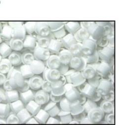 8 pack 1/4 inch white Plastic Hole plugs . Cars , Boats , Pr