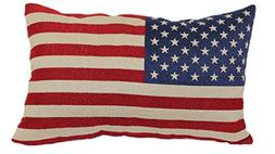 Brentwood Originals 8377 American Flag Tapestry Toss Pillow,