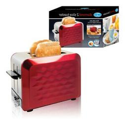 900W 2-SLICE EXTRA WIDE S/S RED DIAMOND TOASTER 7 HEAT SETTI