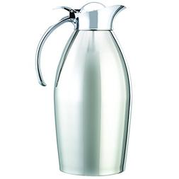 Service Ideas 98115PS Carafe, Stainless Steel, Chrome Plated