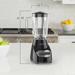 BLACK+DECKER Countertop Blender with 5-Cup Glass Jar, 10-Spe