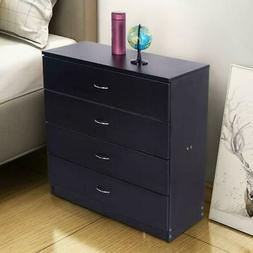 Black Chest of Drawers Dresser Wood Organizer Cabinet Furnit