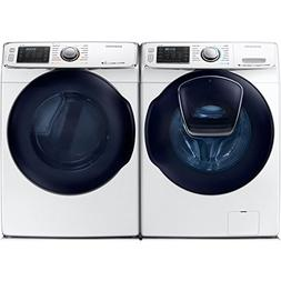 Bundle: White Samsung 5 Cu Ft Front Load Washer with Add Was