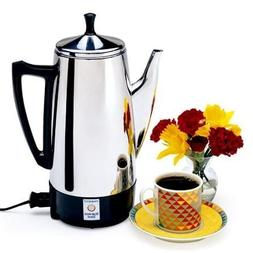 Classic Design, Elegant Model Stainless Steel Silver Coffeem