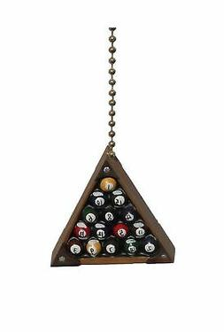 Clementine Designs Eight-Ball Billiards Pool Rack Room Ceili
