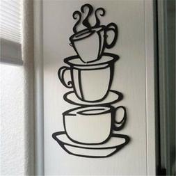 Kitchen Coffee House Cup Wall Stickers Vinyl Decal Mural Hom