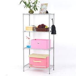 LANGRIA 4 Tier Wire Shelving Unit Heavy Duty Metal Frame Org