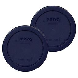 Pyrex Blue 1 Cup Round Plastic Cover #7202-PC 2-Pack