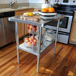 Sportsman Stainless Steel Work Table, 24 by 72-Inch