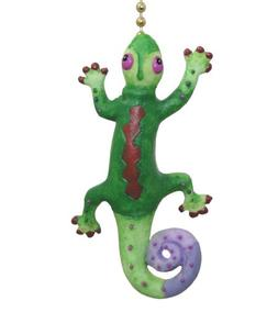 Tropical Gecko Lizard Tiki Bar Ceiling Fan Light Pull