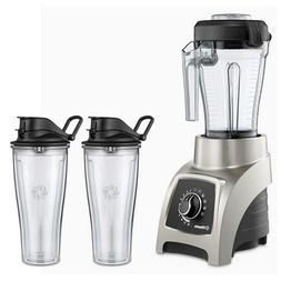 Vitamix S55 Brushed Stainless 40 Ounce Blender with Two 20 O