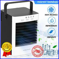 Air Cooling Fan, Portable Air Conditioner, Quiet USB 2 Speed
