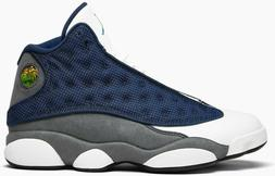 Air Jordan 13 Flint Grey Retro Navy White Gray 414571-404 &