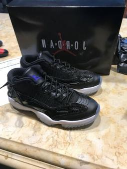 AIR JORDAN XI 11 LOW IE SPACE JAM 919712-041 BLACK WHITE Siz