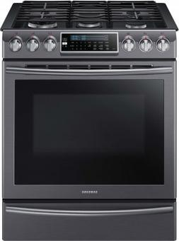 "Samsung Appliance NX58K9500WG 30"" Slide-in Gas Range with Se"