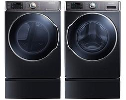 Samsung Appliance Onyx Front Load Laundry Pair with WF56H910