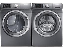 Samsung Appliance Stainless Platinum Front Load Laundry Pair