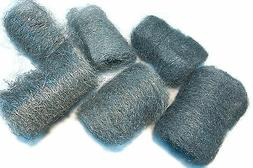 6pc Assorted 434 Stainless Steel Wool Pads  - Made in USA!