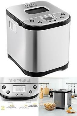 AUTOMATIC BREAD MAKER Stainless Steel 2LB Small Kitchen Appl