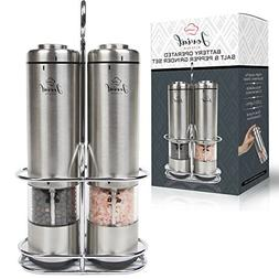 Battery Operated Salt and Pepper Grinder Set - Electric Stai