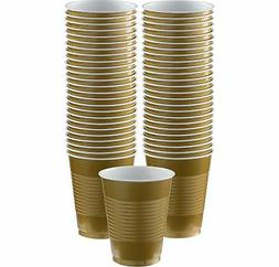 BIG PACK 16-OZ PLASTIC CUPS GOLD 50 COUNT