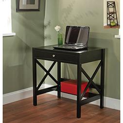 Simple Living Black X-design Writing Desk, Office Desk, Smal