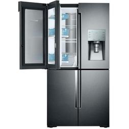 Samsung Black Stainless 22 CF French Door Refrigerator Showc