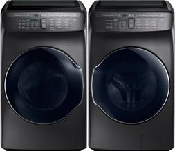 Samsung Black Stainless Flex Washer & Electric Dryer WV55M96