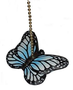 Blue Butterfly Fan Pull Decorative Light Chain by Clementine