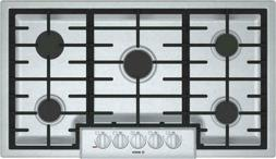 "Bosch NGM8655UC 36"" 800 Series Gas Cooktop stainless steel B"