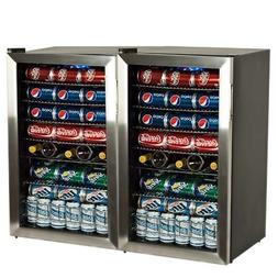 EdgeStar BWC120SSDUAL 206 Can and 10 Bottle Side-by-Side Ult