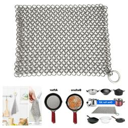 Cast Iron Cleaner Chainmail for Pre-Seasoned Iron Pan Dutch