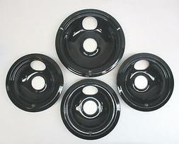 CB9 Range Stove Porcelain Drip Pans Bowls Set 3 and 1