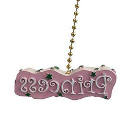 Childrens Pink Princess Ceiling Fan Pull Chain by Clementine