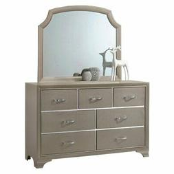 Home Source Industries Coco 7 Drawer Dresser with Optional M