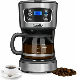 Coffee Maker, 5 Cups Programmable Brew Coffee Machine with G