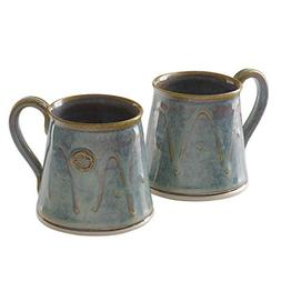 Castle Arch Pottery Set Of 2 Coffee/Tea Mugs, Handmade In Ir