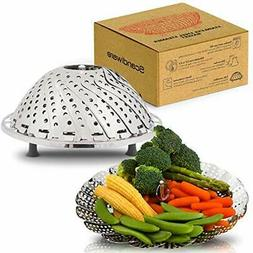 Collapsible Steamer Basket - Fits Any Size Pot To Make Cooki