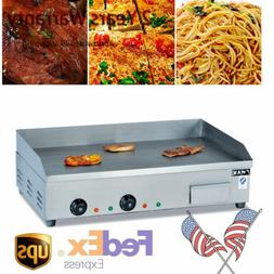 Commercial Countertop Electric Griddle Flat Top Grill Stove