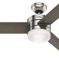 """Hunter 54"""" Contemporary Ceiling Fan with Remote Control in B"""