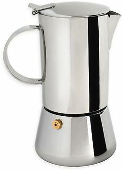 Cooktop Espresso Coffee Maker 1 Cup Capacity Stainless Steel