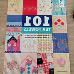 Craft Book 101 TEA TOWELS.Quilting Embroidery.Machine/Hand A