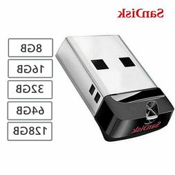 SanDisk Cruzer Fit 8GB 16GB 32GB 64GB SDCZ33 USB 2.0 Mini Fl